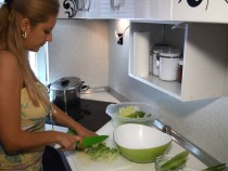 preparation of fresh salad