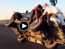 Change-Tires-WHILE-Driving-On-Two-Wheels-cl