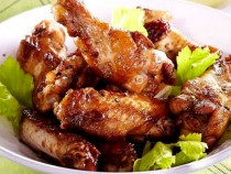 Chicken wings marined