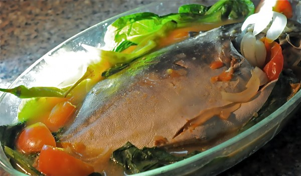 Cooked Pomfret With Vegetables