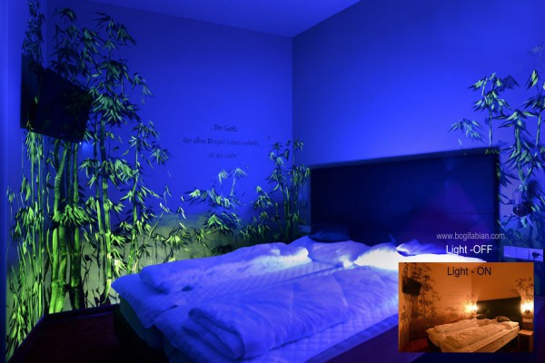 Glowing-murals-by-Bogi-Fabian- blue bedroom