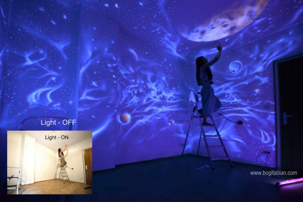 Glowing-murals-by-Bogi-Fabian - bogi painting on ceiling